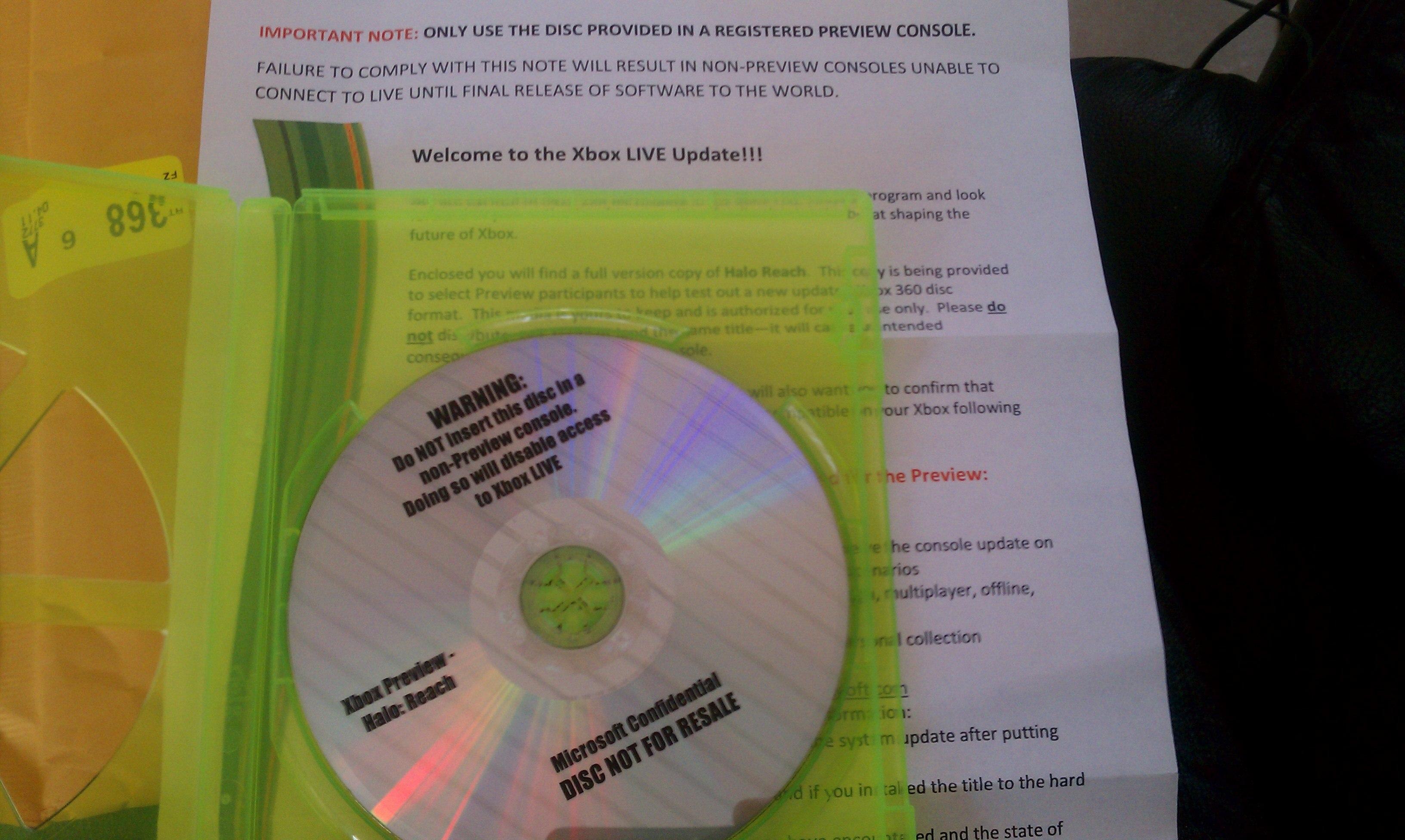 X-ex com - Xbox 360 new disc format beta discs arrive with